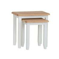 See more information about the Ava Oak 2 Nest Of Tables White