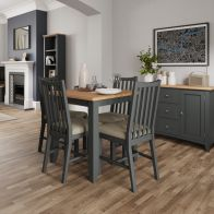 See more information about the Aurora Light Oak & Grey Fixed Top Dining Table