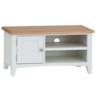 See more information about the Ava Oak 1 Door 2 Shelf TV Unit White