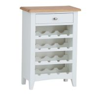 See more information about the Ava Oak 1 Drawer 4 Shelf Wine Rack White