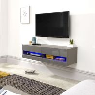 See more information about the Galicia 120cm Grey & Black Gloss LED Wall TV Unit