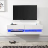 See more information about the Galicia Wall TV Unit White 2 Shelf 120cm