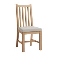 See more information about the Oxford Oak Slatted Dining Chair