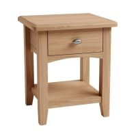 See more information about the Oxford Oak 1 Drawer Lamp Side Table