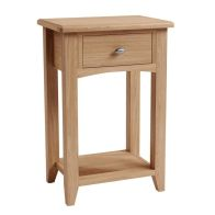 See more information about the Oxford Oak 1 Drawer Telephone Side Table