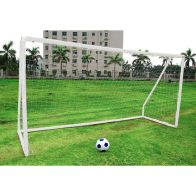 See more information about the Kids Junior 12 Foot x 6 Foot White Portable Football Goals