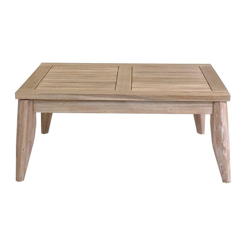 Fisherman Acacia Wood Garden Coffee, Wooden Coffee Table For Garden