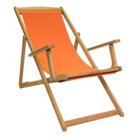 See more information about the Charles Bentley FSC Eucalyptus Hardwood Foldable Deck Chair - Orange