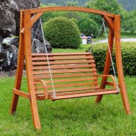 See more information about the Wooden Large 2-3 Seater Garden Swing Seat Hammock 1.9M