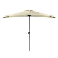 See more information about the Metal Half Balcony Garden Parasol with Crank Function Beige 2.7M