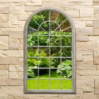 See more information about the Arched Decorative Garden Wall Mirror Natural