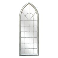 See more information about the Shabby Chic Arch Garden Outdoor Mirror - White