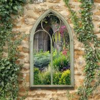 See more information about the Gothic Glass Chapel Garden Wall Mirror
