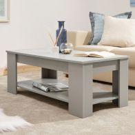 See more information about the Ember Lift Up Coffee Table Grey 1 Shelf