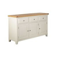 See more information about the Harmony Sideboard Oak & White 3 Door 3 Drawer