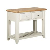 See more information about the Harmony Console Table Oak & White 2 Drawer