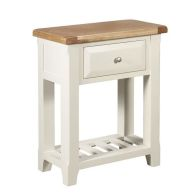 See more information about the Harmony Console Table Oak & White 1 Drawer