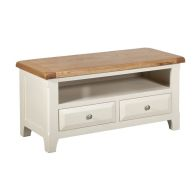 See more information about the Harmony TV Unit Oak & White 1 Shelf 2 Drawer