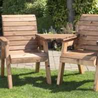 See more information about the 2 Seat Tete-a-tete Scandinavian Redwood Garden Furniture