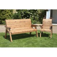 See more information about the Charles Taylor 4 Seat Set Angled Garden Bench - Burgundy Cushion