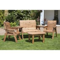 See more information about the Charles Taylor 4 Seat Garden Set With Green Cushion