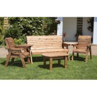 See more information about the Charles Taylor 5 Seat Garden Set With Green Cushion