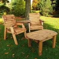 See more information about the Twin Angled Companion Dining Scandinavian Redwood Garden Set