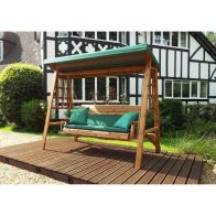See more information about the Charles Taylor Dorset 3 Seat Swing With Green Cushion