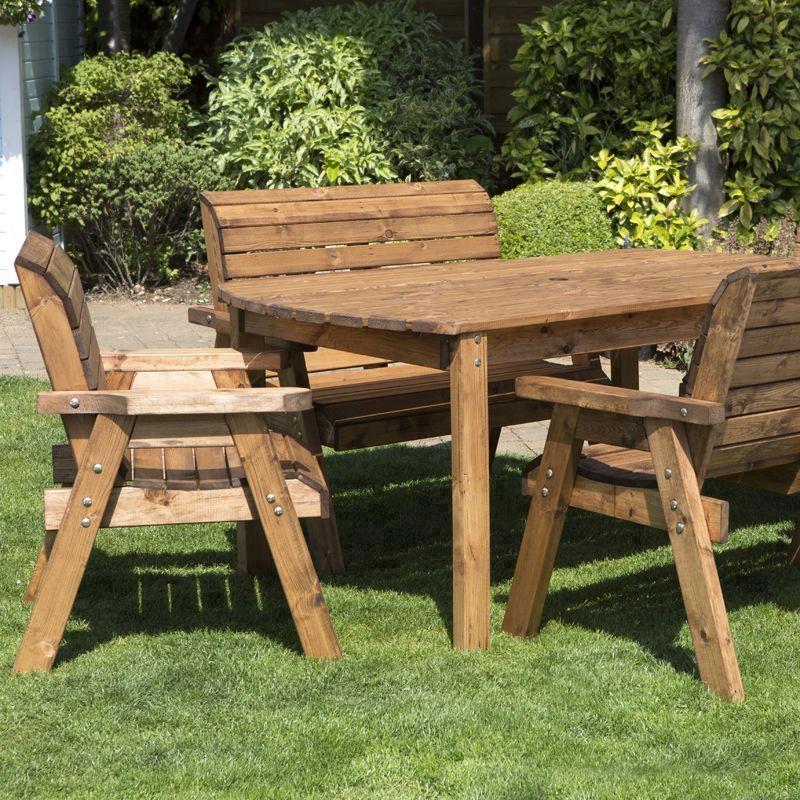 Buy 6 seat rectangular large table scandinavian redwood garden furniture online at cherry lane - Garten loungemobel sale ...