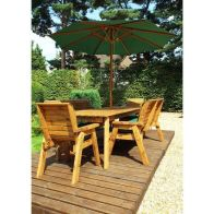 See more information about the Charles Taylor 8 Seat Garden Rectangular Set - Green Parasol & Base