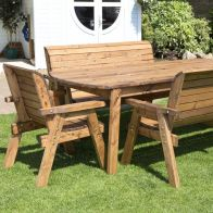 See more information about the 8 Seat Rectangular Table Combi Scandinavian Redwood Garden Furniture