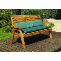 See more information about the Charles Taylor 3 Seat Winchester Garden Bench With Green Cushion