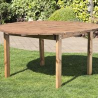 See more information about the 6 Seat Round Scandinavian Redwood Garden Table