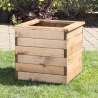 See more information about the Large Square Scandinavian Redwood Garden Planter