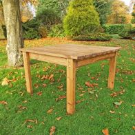See more information about the Deluxe Scandinavian Redwood Square Coffee Table Garden Furniture