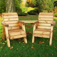 See more information about the Little Fellas 2 Seat Angled Redwood Kids Twin Companion Garden Seat