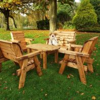 See more information about the Little Fellas 6 Seat Redwood Kids Deluxe Garden Furniture
