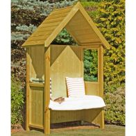 See more information about the Shire Hebe Pressure Treated Garden Arbour 5' x 3'
