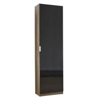 See more information about the High Gloss Shoe Storage Black 1 Door Walnut Style