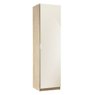 See more information about the High Gloss Shoe Storage Cream & Oak Style 1 Door 180cm
