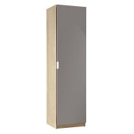 See more information about the High Gloss Shoe Storage Grey & Oak Style 1 Door 180cm
