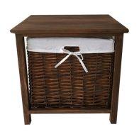 1 Wicker Basket Storage Table - Brown
