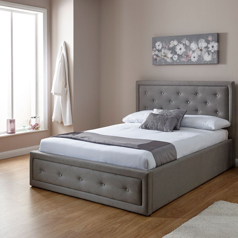Buy Hollywood King Size Ottoman Bed Grey Online At