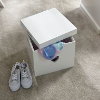 See more information about the Square Love Hearts MDF Storage Stool White