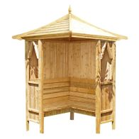 See more information about the Shire Honeysuckle Corner Garden Arbour (4' x 4')