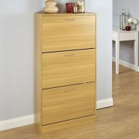 See more information about the Humphrey Shoe Storage 3 Door Oak Style