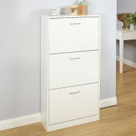 See more information about the Humphrey White Three Tier Shoe Storage Cabinet