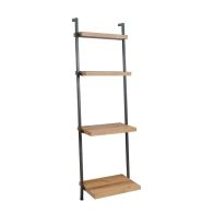 See more information about the Industrial Chic Oak & Steel 4 Shelf Bookcase