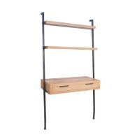 See more information about the Industrial Chic Oak & Steel 1 Drawer 2 Shelf Desk & Bookcase