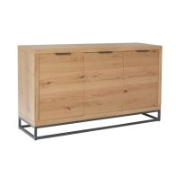 See more information about the Industrial Chic Oak & Steel 3 Door Sideboard